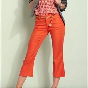 CAbi size 4 linen blend orange charlie cropped